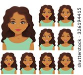 woman with different facial... | Shutterstock .eps vector #326194415