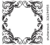 vintage baroque frame scroll... | Shutterstock .eps vector #326194955