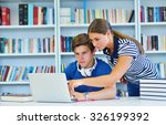 a group of two universities  ... | Shutterstock . vector #326199392