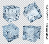set of four transparent ice... | Shutterstock .eps vector #326202548