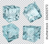 set of four transparent ice... | Shutterstock .eps vector #326202572