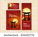 template cover japanese food... | Shutterstock .eps vector #326202776