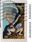 Small photo of UNITED STATES OF AMERICA - CIRCA 2012: A stamp printed in USA shows Edgar Rice Burroughs, circa 2012