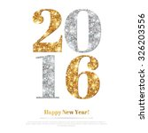 happy new year 2016 greeting... | Shutterstock .eps vector #326203556