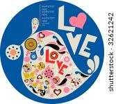 vector love bird | Shutterstock .eps vector #32621242