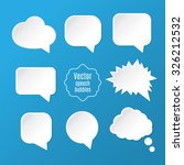 vector set of white clean... | Shutterstock .eps vector #326212532