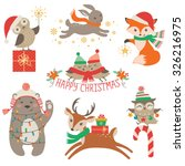 set of cute christmas design... | Shutterstock .eps vector #326216975