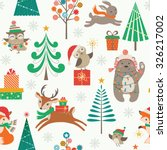 cute christmas pattern with... | Shutterstock .eps vector #326217002