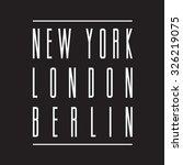 capitals new york   berlin ... | Shutterstock .eps vector #326219075