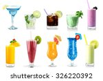 cocktail drinks. | Shutterstock . vector #326220392