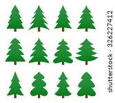 set of different fir trees.... | Shutterstock .eps vector #326227412