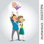 happy family. vector...   Shutterstock .eps vector #326237396