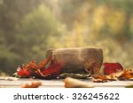 singing bowl made of seven... | Shutterstock . vector #326245622