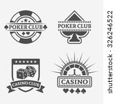 poker club and gambling casino... | Shutterstock .eps vector #326246522