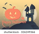 happy halloween background ... | Shutterstock .eps vector #326249366