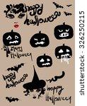 happy halloween  vector... | Shutterstock .eps vector #326250215