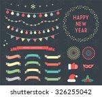 2016 christmas season set of...   Shutterstock .eps vector #326255042