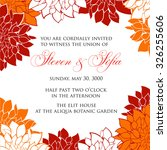 wedding invitation card with... | Shutterstock .eps vector #326255606