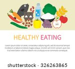 healthy eating banner. healthy... | Shutterstock .eps vector #326263865
