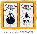 hand drawn textured halloween... | Shutterstock .eps vector #326266592