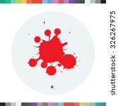 blood stain icon. halloween. | Shutterstock .eps vector #326267975