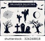 hand drawn textured halloween...   Shutterstock .eps vector #326268818