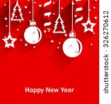illustration happy new year... | Shutterstock .eps vector #326270612