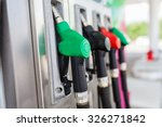 fuel pumps at a gas station. | Shutterstock . vector #326271842