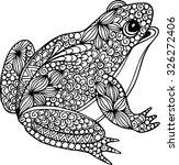 hand drawn ornamental doodle... | Shutterstock .eps vector #326272406