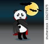 panda bear wearing in costume... | Shutterstock .eps vector #326273375