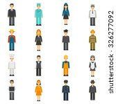 profession flat avatars set... | Shutterstock .eps vector #326277092