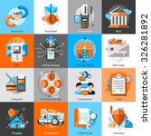 banking icons set with... | Shutterstock .eps vector #326281892