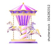 Retro Merry Go Round Carousel...