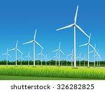 wind farm   wind powered... | Shutterstock .eps vector #326282825