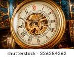 antique clock dial close up.... | Shutterstock . vector #326284262