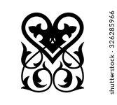 heart  ornament | Shutterstock .eps vector #326285966