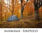 camping equipment. tent in the... | Shutterstock . vector #326292215
