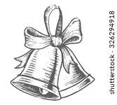 hand drawn christmas bell in... | Shutterstock .eps vector #326294918