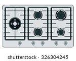 gray blue shut down gas stove | Shutterstock .eps vector #326304245