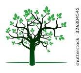 green tree. vector illustration. | Shutterstock .eps vector #326304542