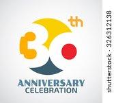 template logo 30th anniversary... | Shutterstock .eps vector #326312138