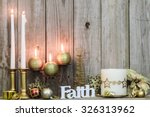 Gold Holiday Candles  Christma...