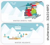 ski resort. mountain landscapes.... | Shutterstock .eps vector #326314892