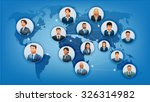 the communications business... | Shutterstock .eps vector #326314982