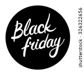 black friday round icon | Shutterstock .eps vector #326322656