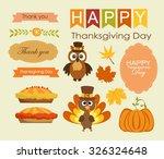 happy thanksgiving day | Shutterstock .eps vector #326324648