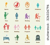 human life elements  vector... | Shutterstock .eps vector #326326796