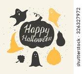 hand drawn halloween...   Shutterstock .eps vector #326327972