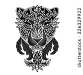ornamental panther. vector... | Shutterstock .eps vector #326329922
