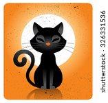 halloween cat character | Shutterstock .eps vector #326331536